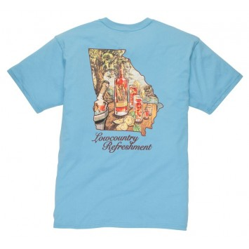 Retro Blue Lowcountry Refreshment Tee